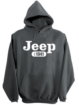 Sweatshirt - Jeep Hoody in Dark Heather
