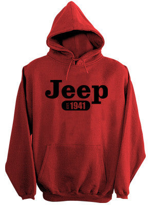 Sweatshirt - Jeep Hoody in Red