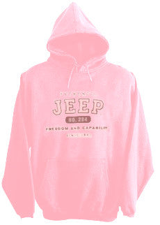 Sweatshirt - Jeep Authentic Hoody in Pink