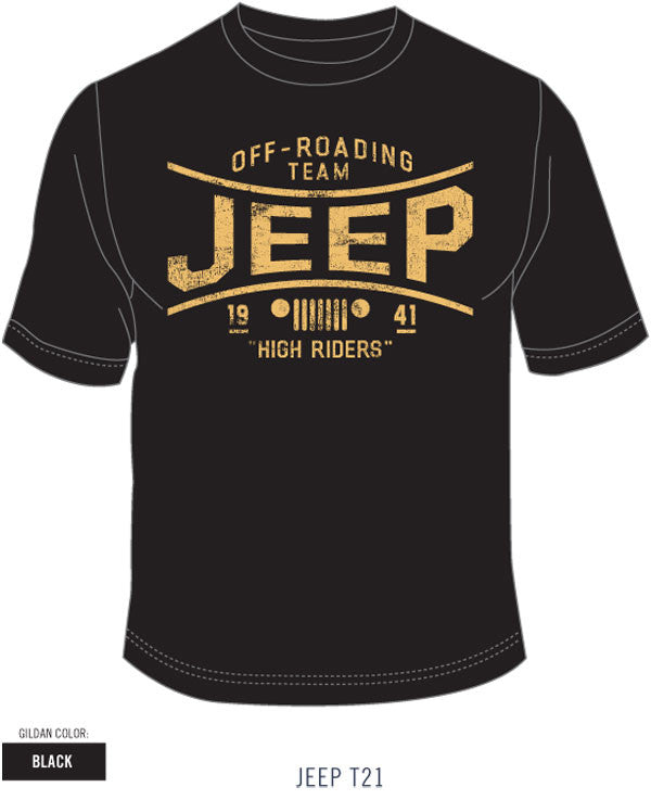 Jeep High Flyers Tee in Black