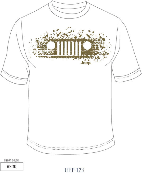 Jeep Tracks Tee in White