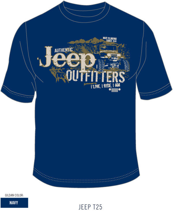 Jeep Outfitters Tee in Navy