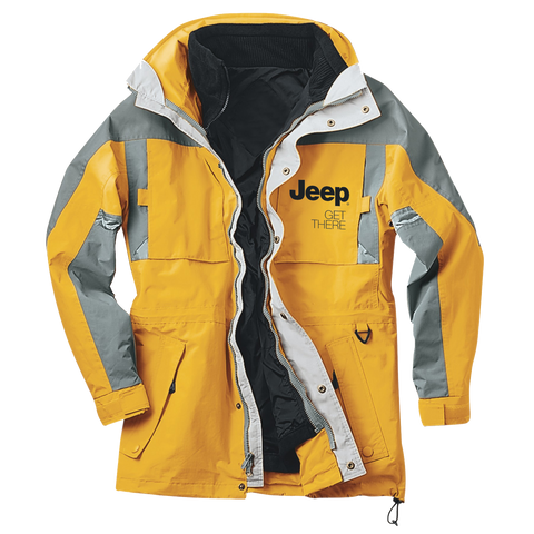 JPJKT1001 - Men's Jeep Yellow/Gray Jeep 3/4-Length 3-in-1 Jacket