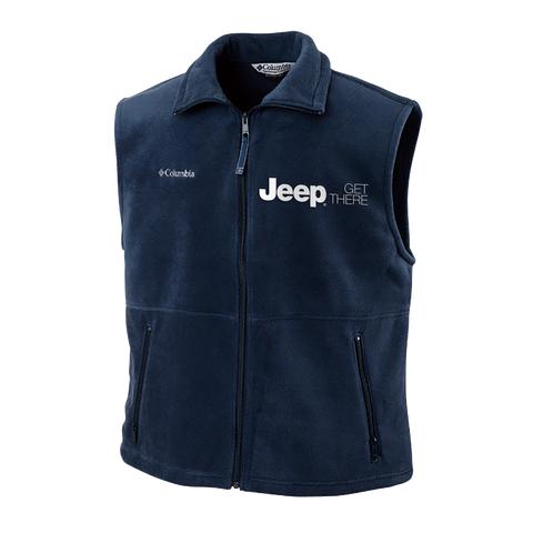 JPVST1001 - Men's Jeep Cathedral Peak Full-Zip Fleece Vest in Blue