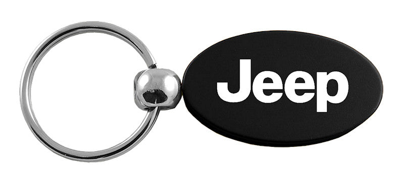 KC1340.JEE.BLK - Jeep Black Oval Key Fob