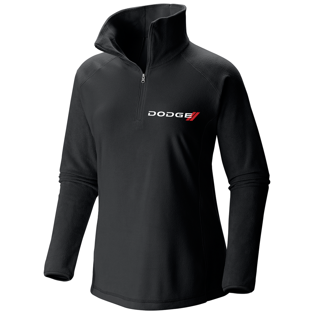 DG146697BK - Dodge Women's Glacial Fleece III Half-Zip Microfleece Pullover in Black