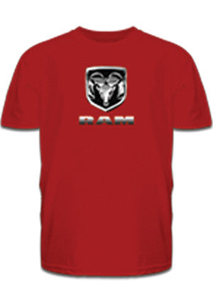 Chrome RAM Tee in Red