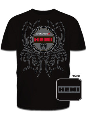 Dodge Hemi Tribal Back Tee in Black
