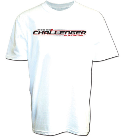 Dodge Challenger Never Neutral Tee in White