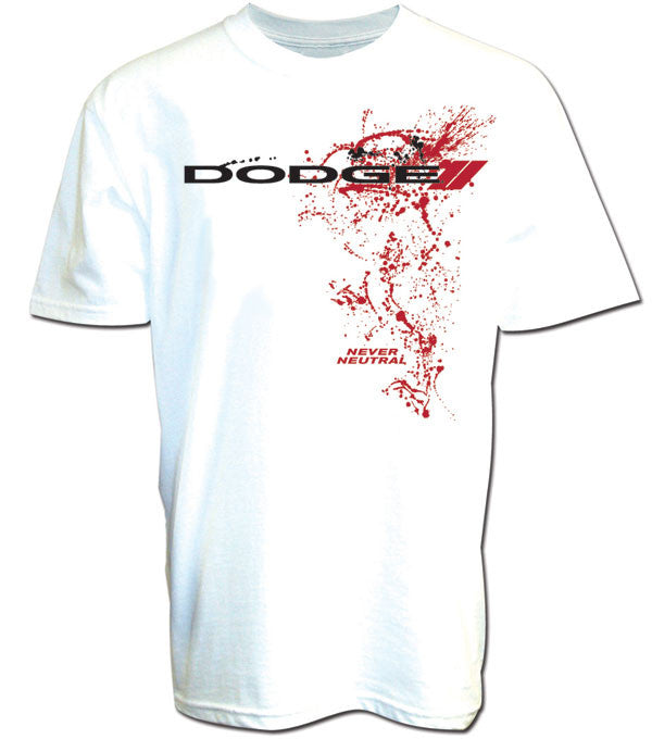 Dodge Splatter Tee in White