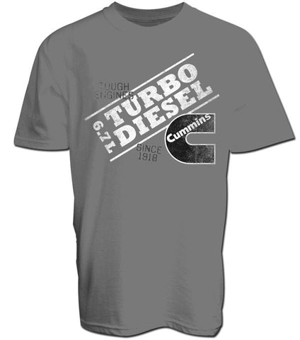 Cummins 6.7L Tough Engines Tee in Gray