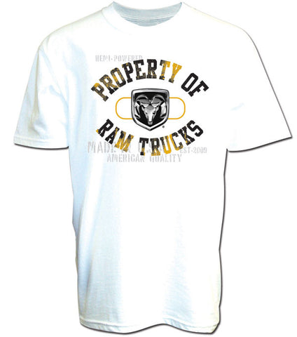 Property of Ram Trucks Tee in White