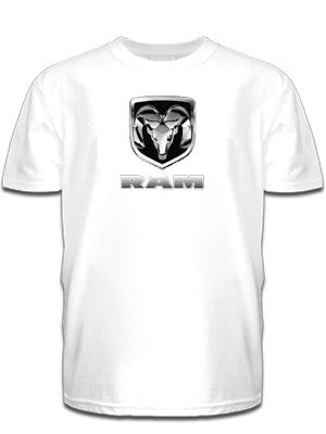 Chrome RAM Tee in White