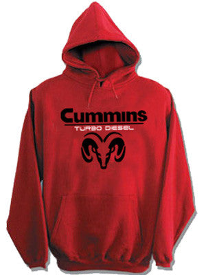 Sweatshirt - Cummins Hoody in Red