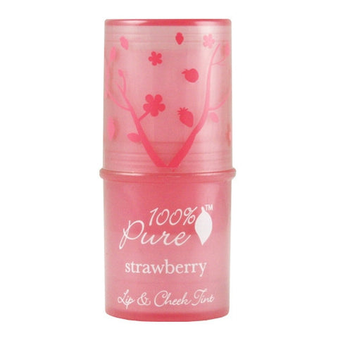 100% Pure Lip and Cheek Tint - Shimmery Strawberry