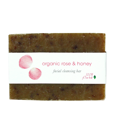 100% Pure Organic Rose and Honey Facial Cleansing Bar