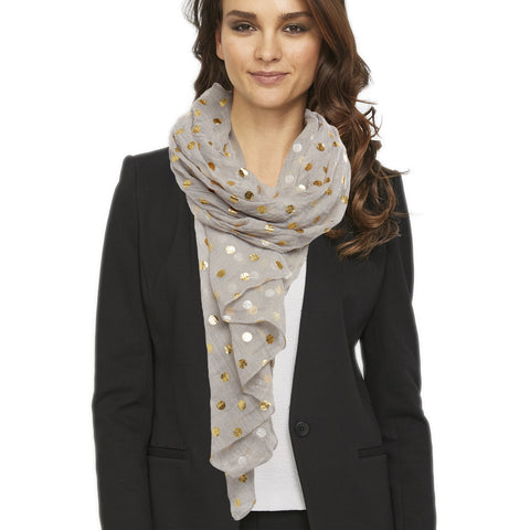 Twos Company Gold Polka Dot Scarf (4 options)