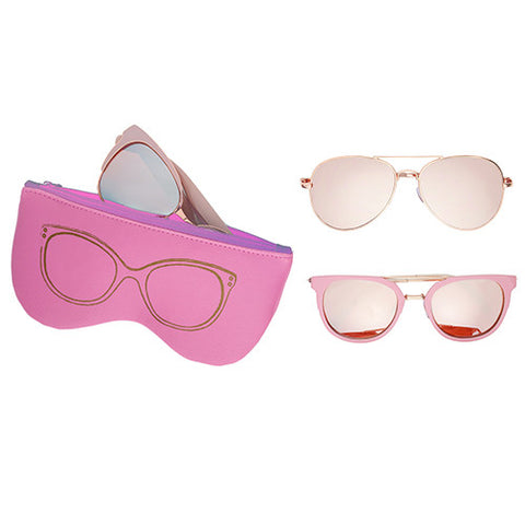 Sunglasses With Case (2 Styles)