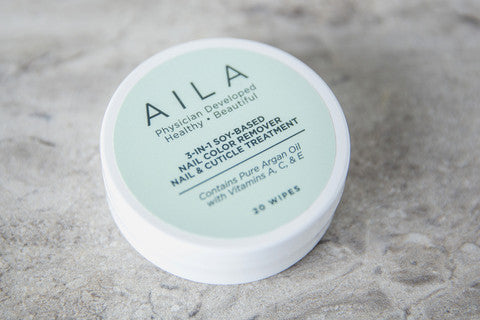 Aila Beauty - 3-in-1 Nail Color Remover, Nail & Cuticle Treatment To-Go