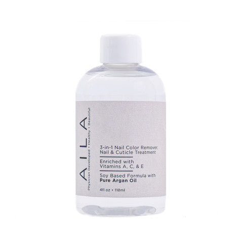 Aila Beauty - 3-in-1 Nail Color Remover with Pure Argan Oil