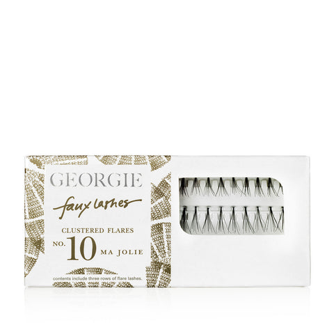 GEORGIE Beauty Faux Lashes Clustered Flares No. 10 Ma Jolie