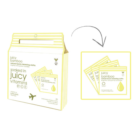 Kaia Juicy Bamboo Cleanisng Wipes Box-To-Go