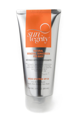 Suntegrity Natural Mineral Sunscreen For Body 3 oz, Broad Spectrum Spf 30