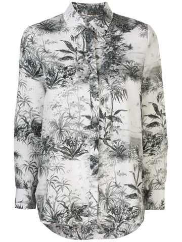 NO'21 Silk Floral Bomber Jacket