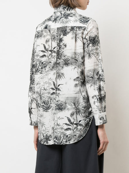 Adam Lippes Menswear Shirt In Printed Voile