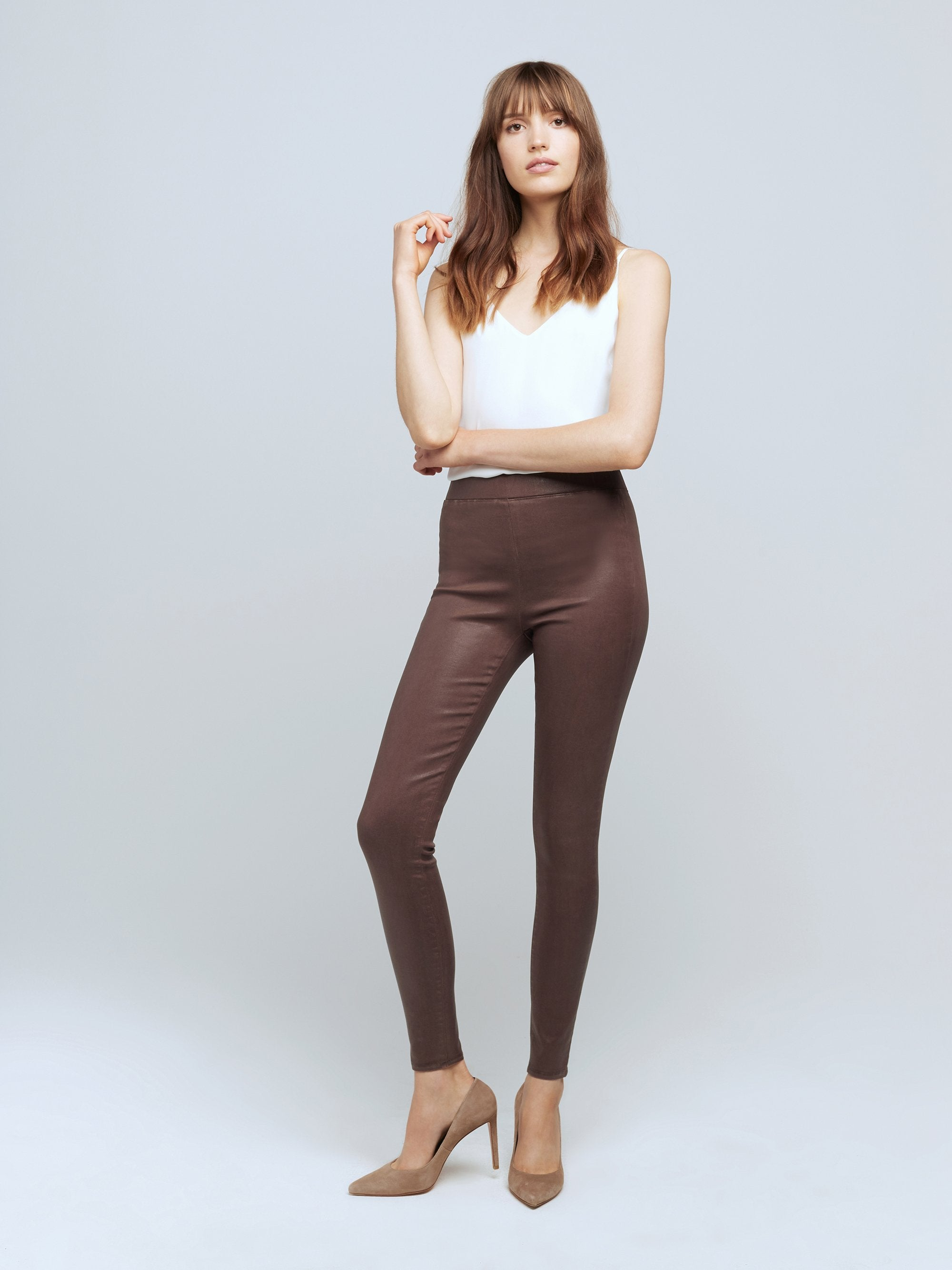 L'agence Rochelle Coated Jean-MAHOGANY COATED