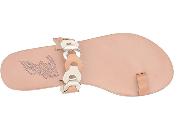 Ancient Greek Sandals Thalia Links-natural, off white, platinum