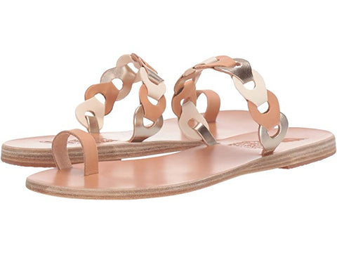 Ancient Greek Sandals Revekka Rivets- Natural