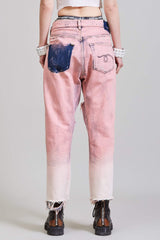 R13 CROSSOVER JEAN - FADED PINK