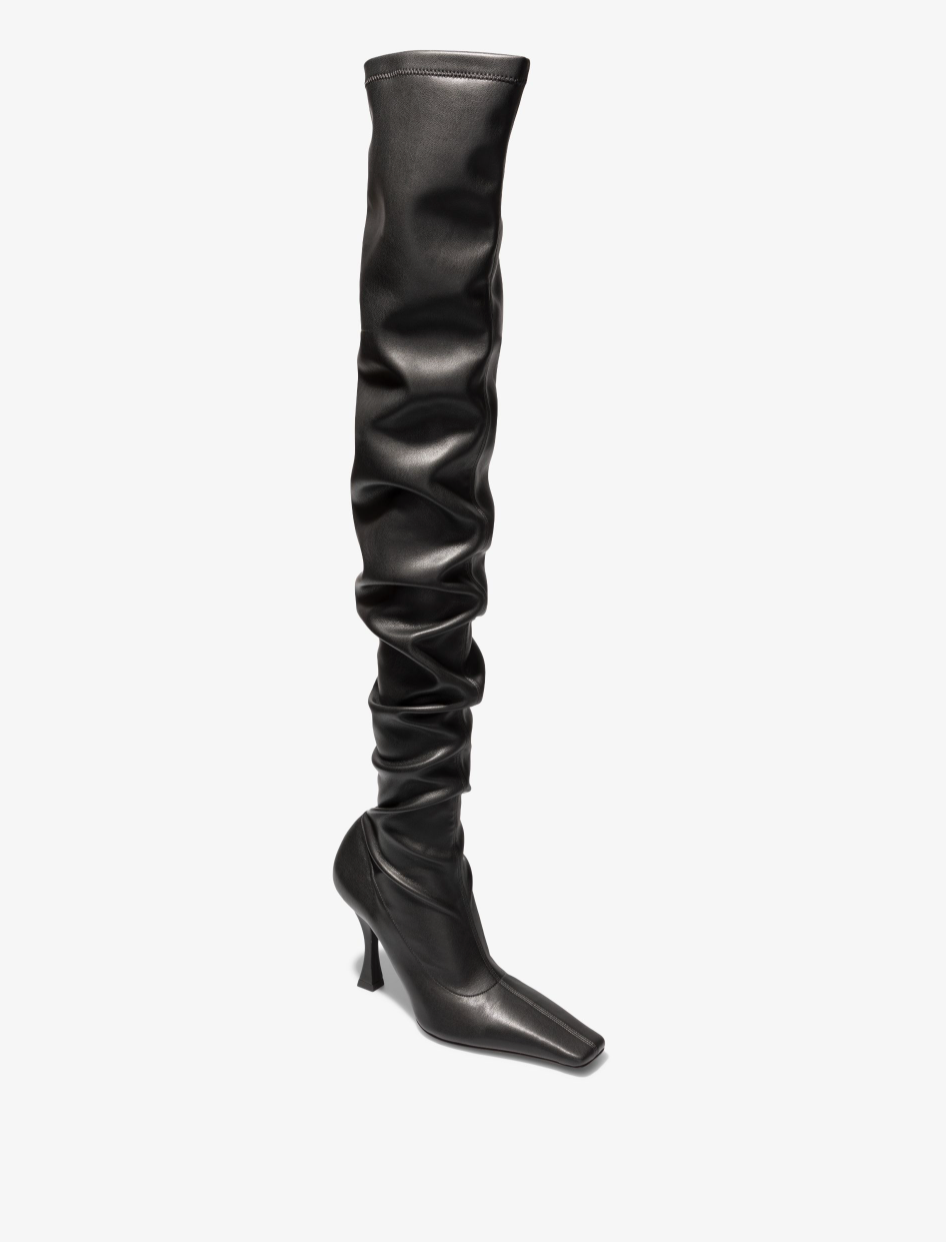 Proenza Schouler Ruched over the knee Boots- Black