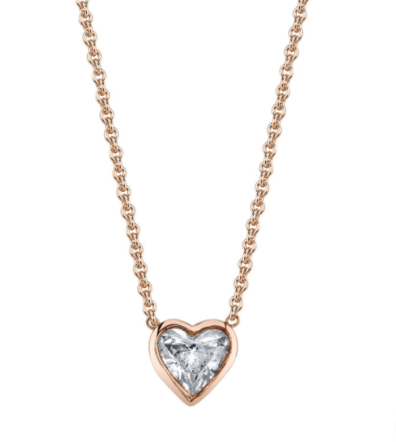 Shay Diamond Solitare Heart Necklace