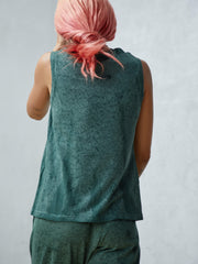 Raquel Allegra TEAL JERSEY FITTED MUSCLE