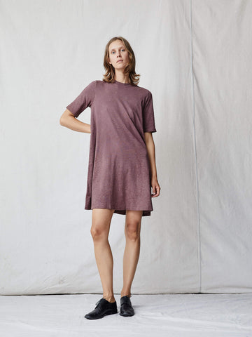 Raquel Allegra DARK BLUSH JERSEY MOD DRESS