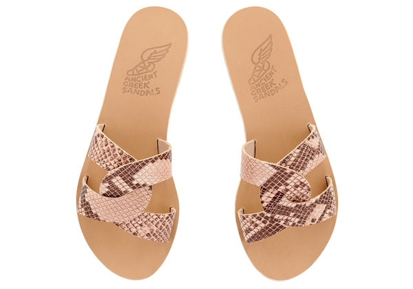 Ancient Greek Sandals Desmos- Snake Skin