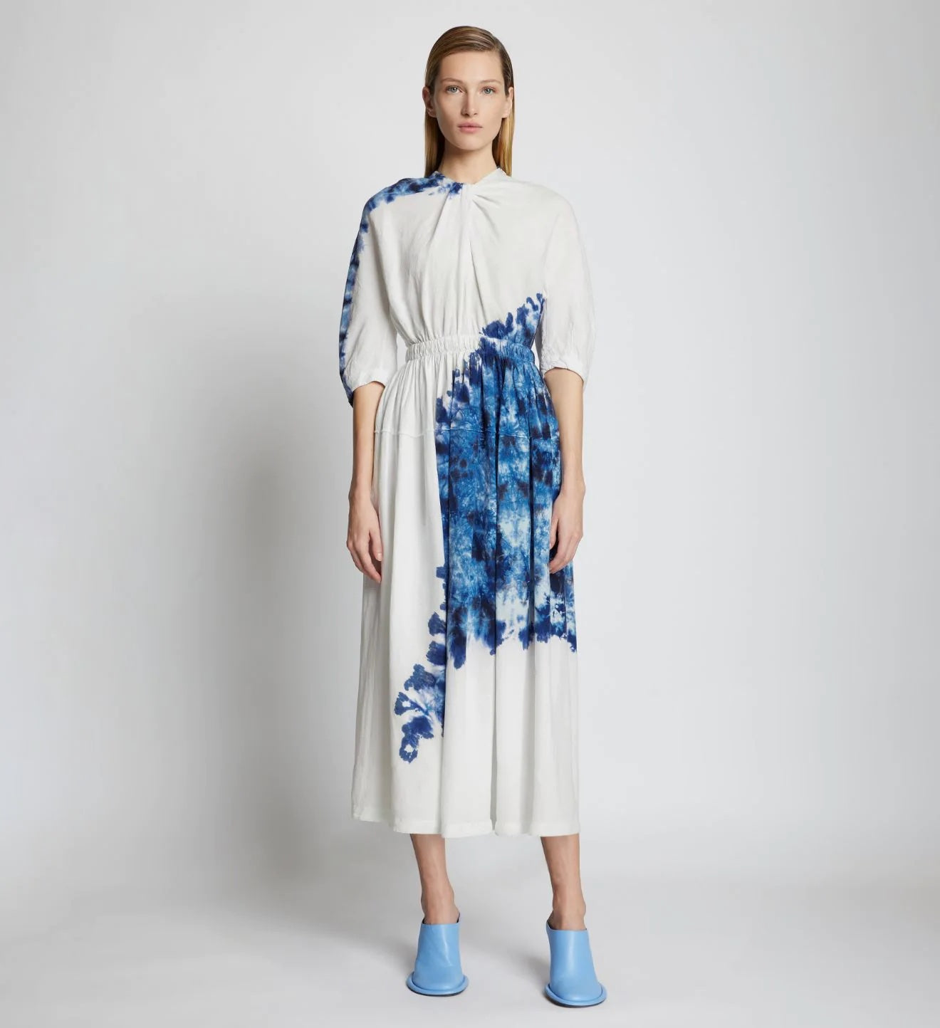 Proenza Schouler Tie Dye Linen Viscose Dress