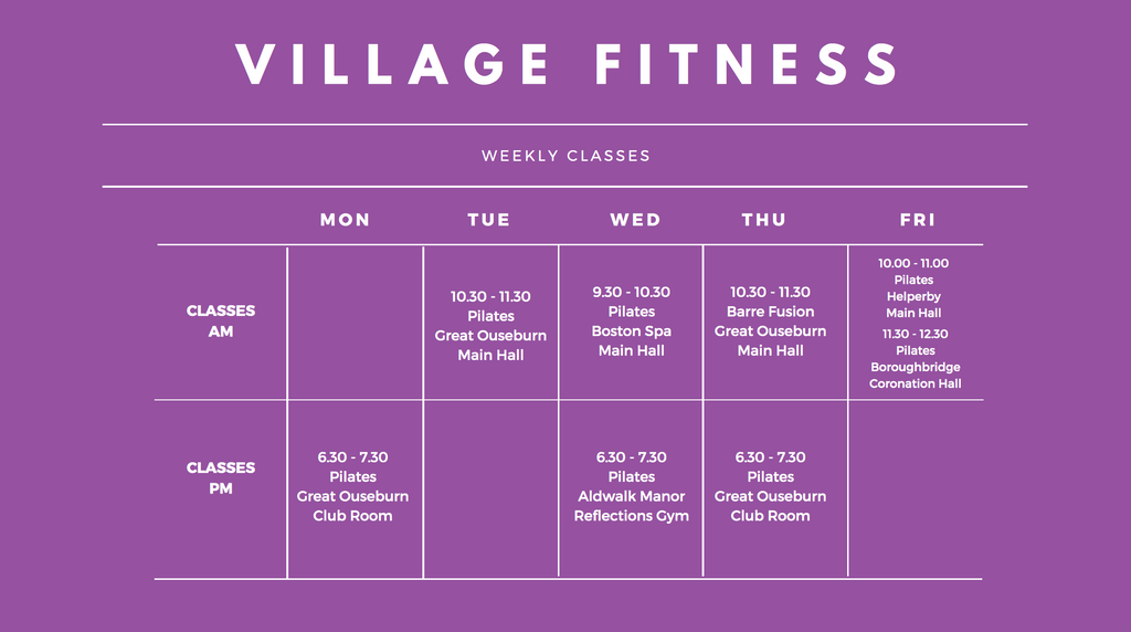 Pilates, Barre Fusion, Personal Training Classes local to Boroughbridge
