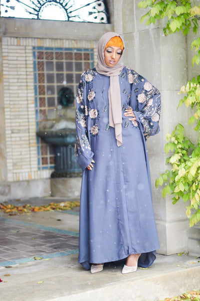 Bahrain Elegant Abaya With Embroidery