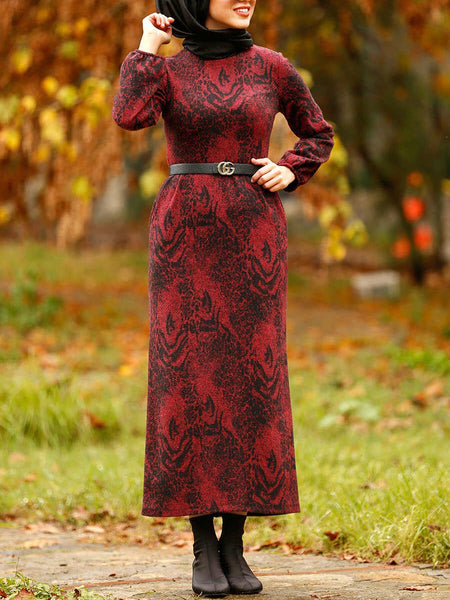 Claret Dress with Pockets