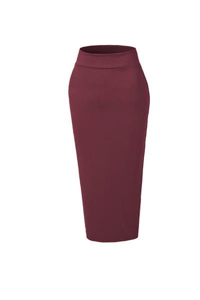 Pencil Skirt - Maroon