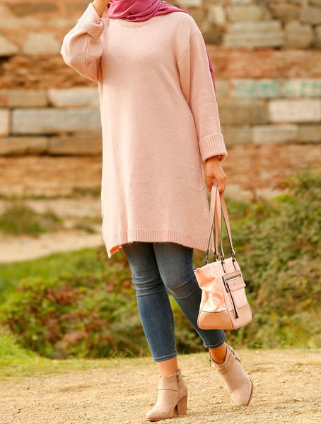 Dusty Rose Tunic Sweater