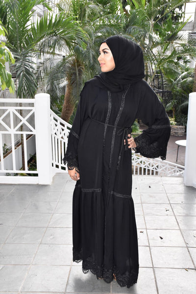Dubai Elegant All Black Abaya