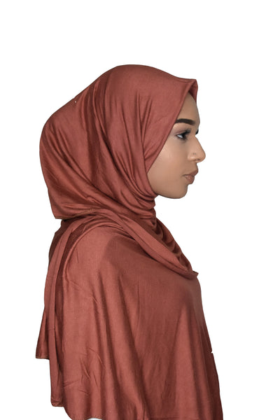 Jersey Hijab - Copper