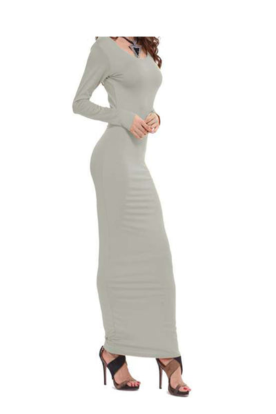 Pencil Dress - Gray