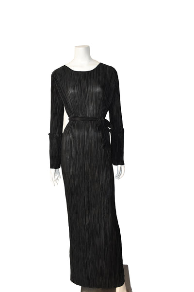 Pleated Elegant Evening Gown