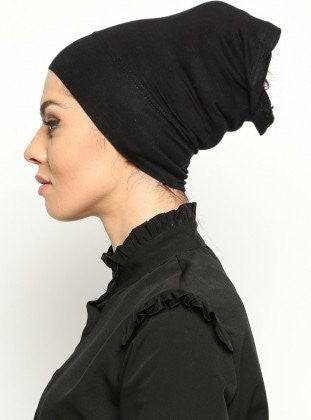 Black Under Tube Scarf