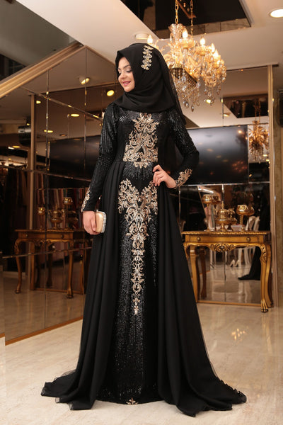 Starry Nights Royal Gown - Black / Final Stock with limited stock.